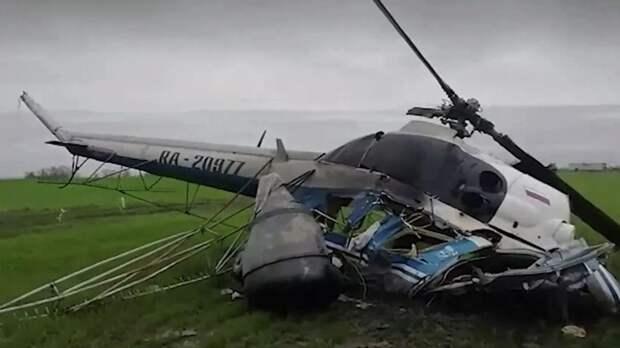 Ми-2 разбился во время сельхозработ на Кубани, пилот погиб