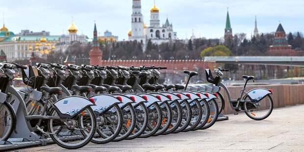 Велосипеды заменяют москвичам автомобили