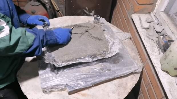 Создаем тротуарную плитку для дачи из того, что есть под рукой