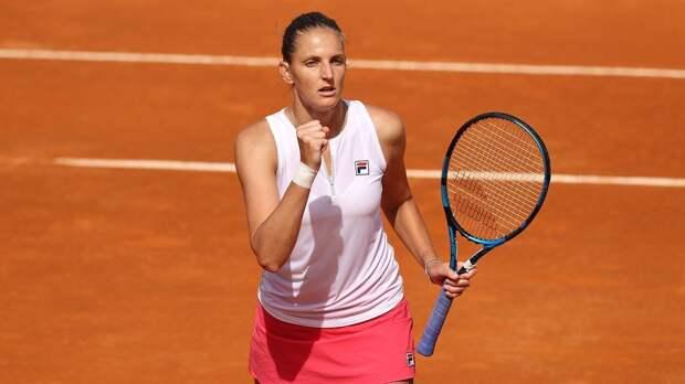 Каролина Плишкова стала первой финалисткой турнира в Риме