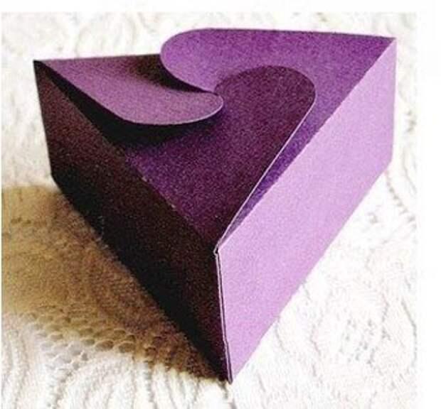 Треугольная подарочная коробка своими руками