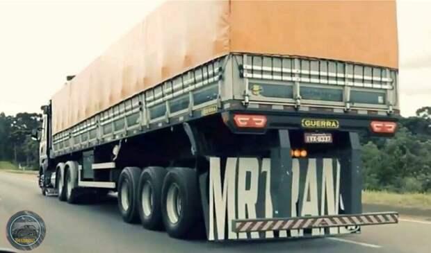 """С какой целью, БРАЗИЛЬСКИЕ дальнобойщики, """"задирают"""" заднюю часть своих грузовиков"""