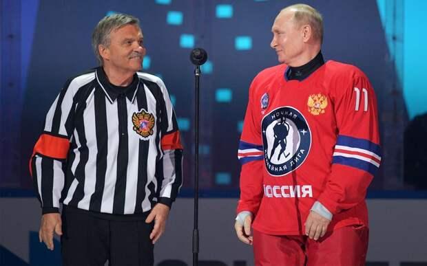 8 голов от Путина, президент ИИХФ в роли судьи и кубок у Фетисова. В Сочи прошел гала-матч НХЛ