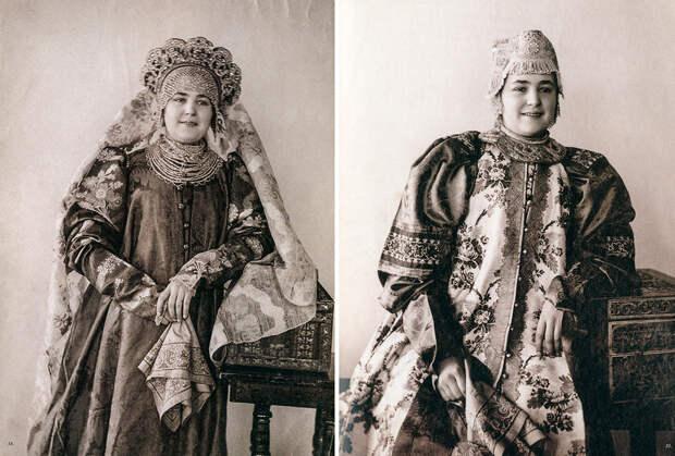 Народные женские костюмы разных губерний Российской Империи (ФОТО)