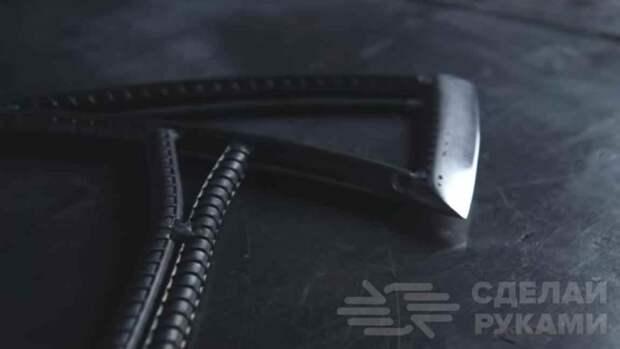 Классный самодельный топорик из обрезков арматуры