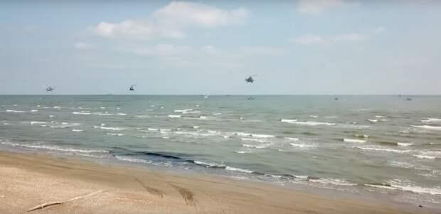 Учение с высадкой морпехов на побережье Дагестана и прорывом обороны условного противника