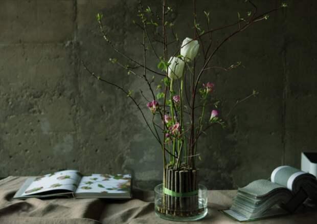 необычные букеты в вазах