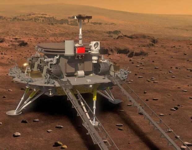 Китай впервые в своей истории посадил на Марсе планетоход