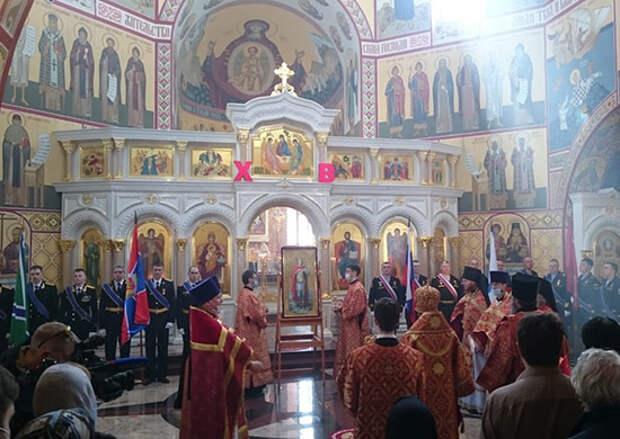На Камчатке, с участием моряков Тихоокеанского флота, возобновлена традиция проведения молебна в честь Святого Георгия Победоносца