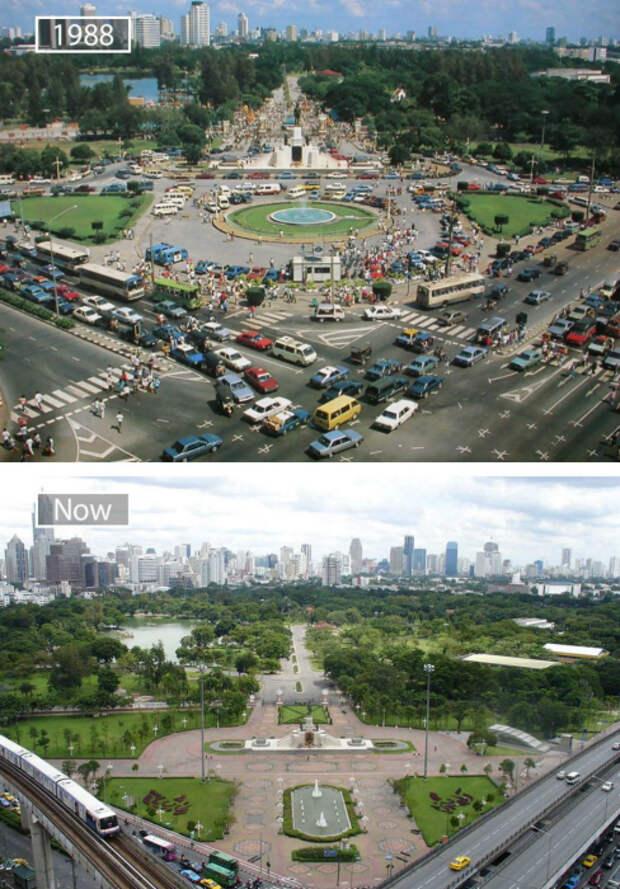 17 снимков «тогда» и «сейчас», демонстрирующих масштабы развития крупных городов