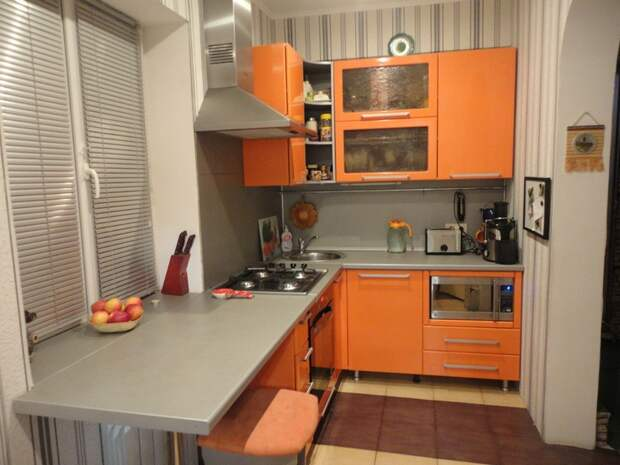 Дизайн и интерьер очень маленькой кухни