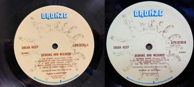 Uriah Heep «Demons and Wizards», 1972 г. Альбом, принесший группе первую всемирную славу
