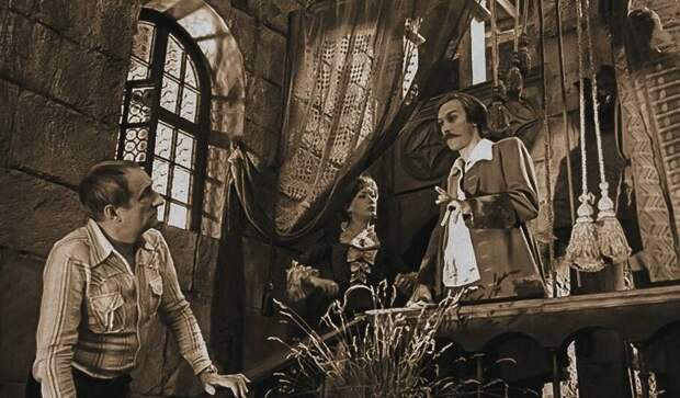 Кадр со съемок фильма «Тот самый Мюнхгаузен», 1979