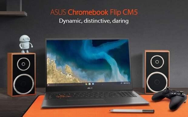 ASUS представила Chromebook Flip CM5 — игровой хромбук на AMD Ryzen для облачного гейминга