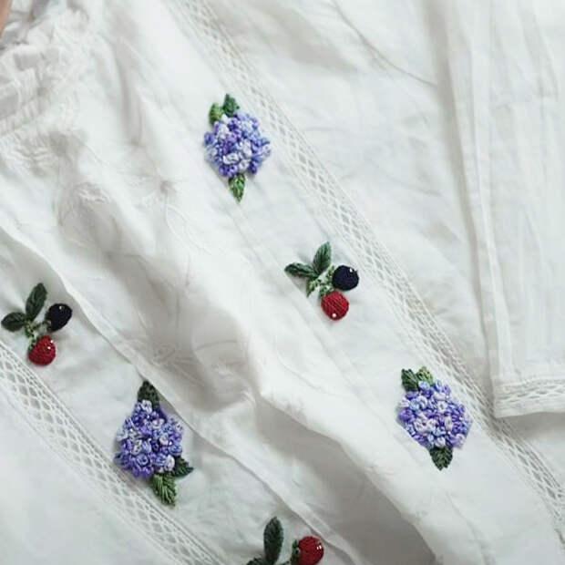 Как красиво вышить готовую блузку