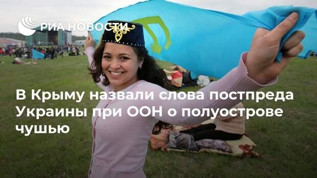 В Крыму назвали слова постпреда Украины при ООН о полуострове чушью