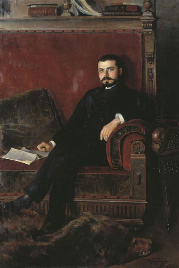 Портрет графа М.М. Толстого младшего работы Н.Д. Кузнецова, 1890 г