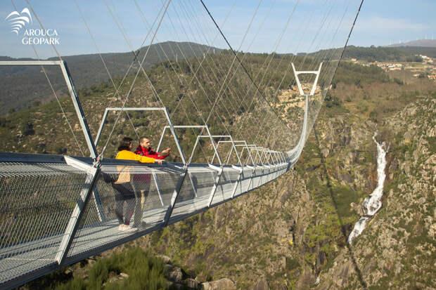 Самый длинный в мире подвесной мост открыли в Португалии