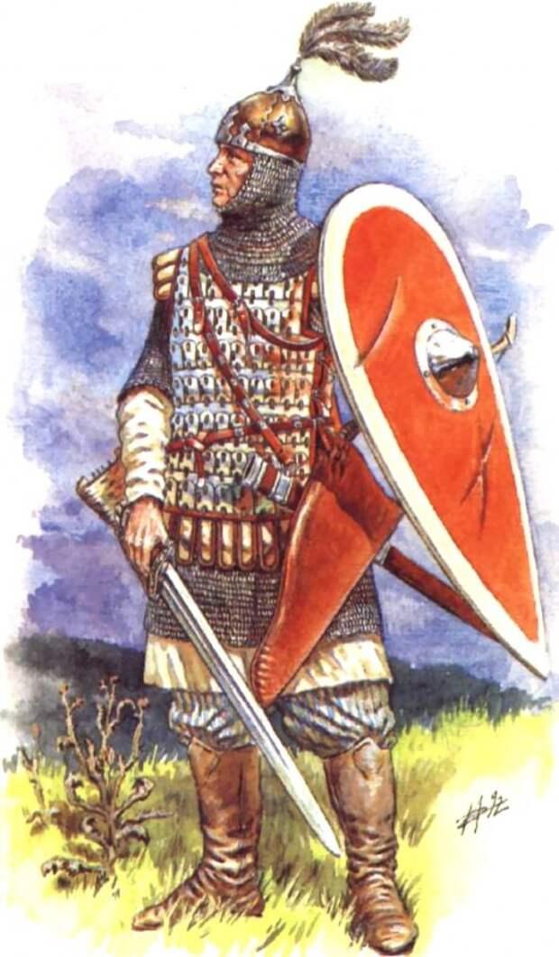 Воины Киевской Руси 10 - 11 век.