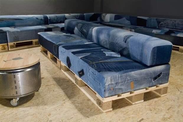Джинсовая мебель  часть 1(трафик)