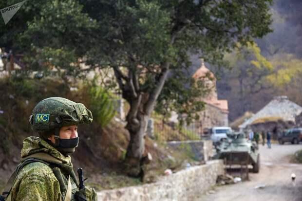 Переброска и развертывание российских миротворцев в Карабахе
