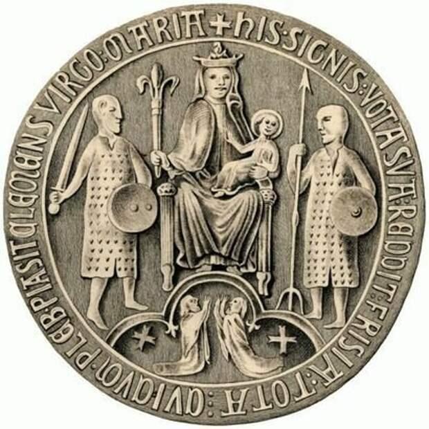 Фризия, печать. 1324 год. Public Domain