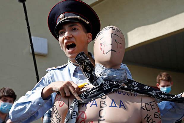 Акционист Крисевич выстрелил себе вголову наКрасной площади