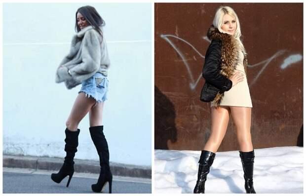 Голые участки тела смотрятся нелепо на контрасте с теплой одеждой