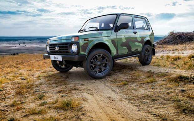 У Lada 4x4 появилась новая окраска кузова. Почувствуй себя военным