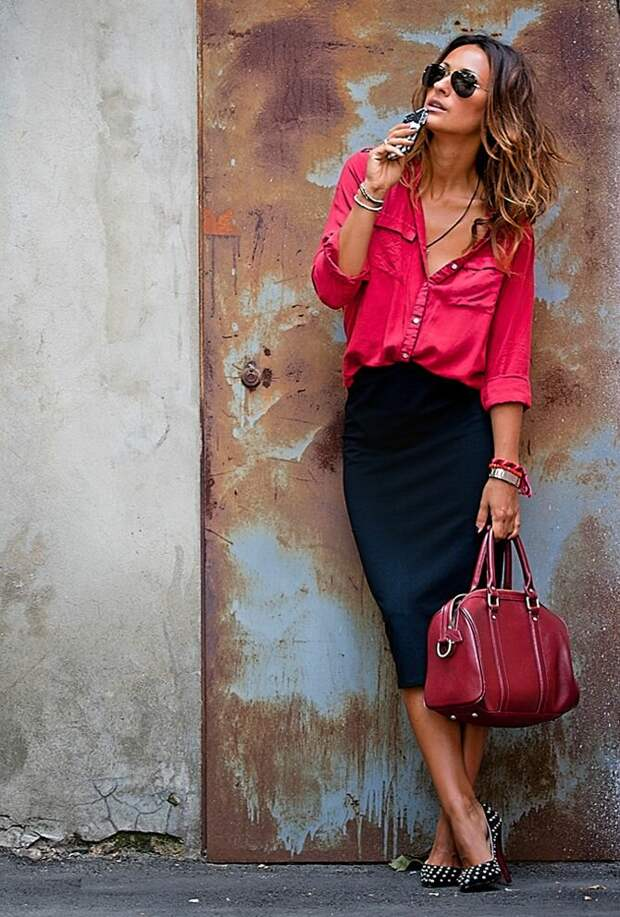 Эффектная классика – черный и красный. Примеры идеальных женских образов с этими двумя цветами в одежде