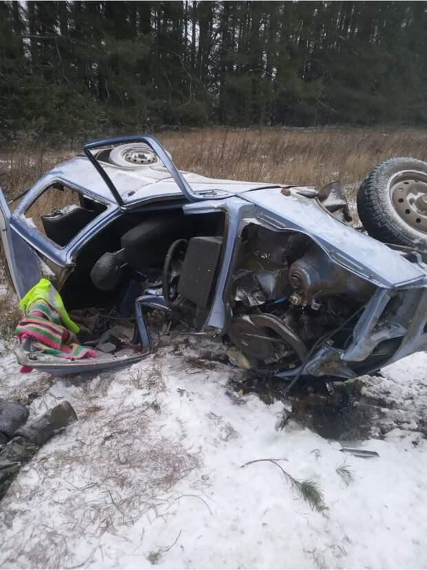 Водитель «Оки» погиб в лобовом столкновении на трассе в Удмуртии