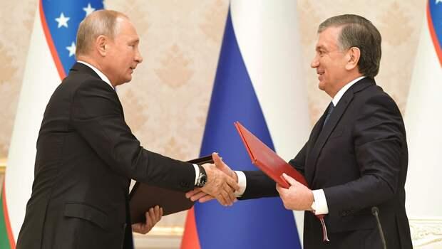 Владимир Путин обсудил с Шавкатом Мирзиёевым производство вакцины на территории Узбекистана