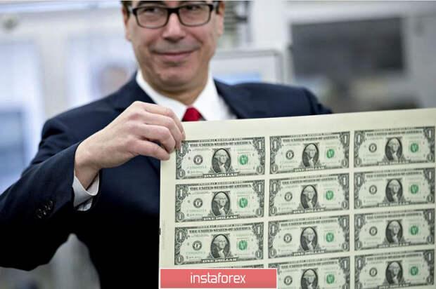 EUR/USD. Мнучин спешит на помощь: министр финансов США удержал доллар на плаву