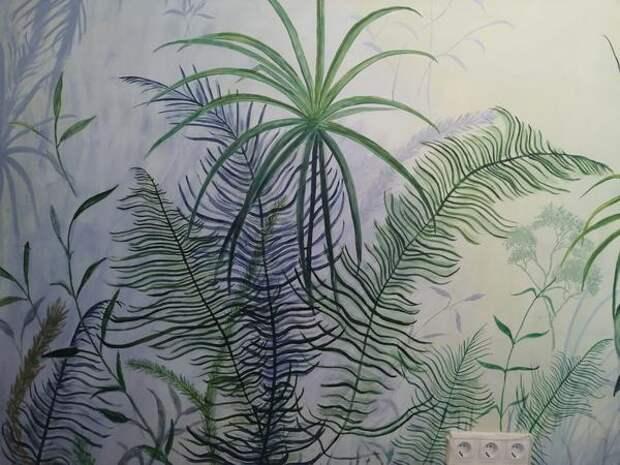 Затем слой за слоем переплетения листьев и стеблей. Фото автора