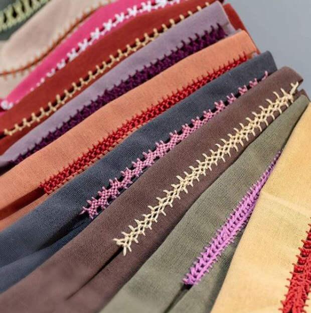 Как вышивать декоративные соединительные швы