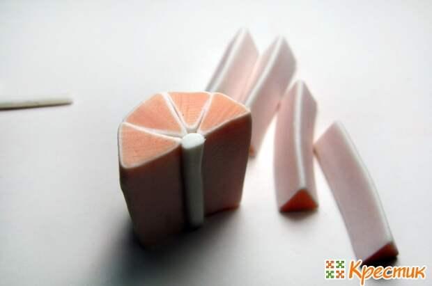 Лепка из полимерной глины: фруктовая колбаска «Апельсин»