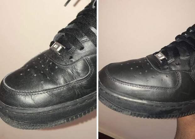 Как разгладить складки на обуви