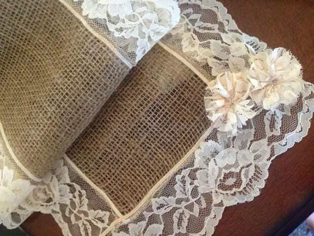 Скатерть из мешковины: 45 простых идей с фото