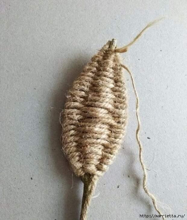 Декоративные листики из веточек и шпагата (10) (496x581, 181Kb)