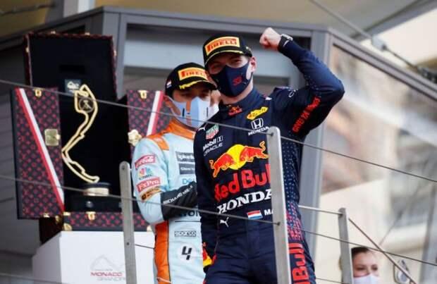 Ферстаппен выиграл Гран-при Монако и возглавил общий зачёт «Формулы-1»