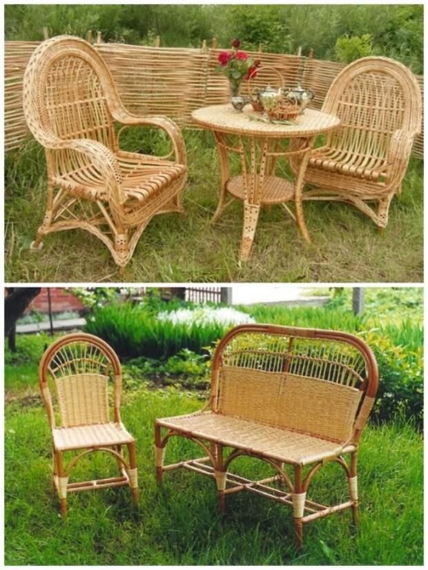 Плетеная мебель – красива, экологична, прочна, не вызывает аллергических реакций и создает атмосферу уюта и комфорта. | Фото: berkem.ru.