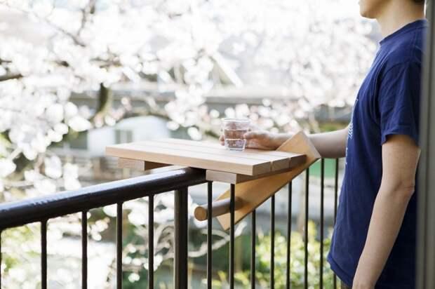 Японский столик для перил