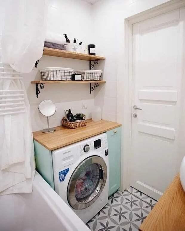 13 способов незаметно спрятать стиральную машину в ванной. Интересные решения