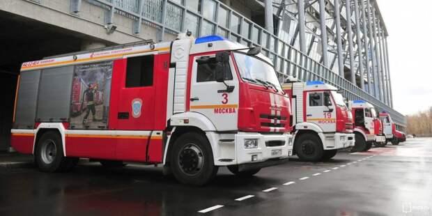 В 1-м Рижском переулке горело бесхозное здание