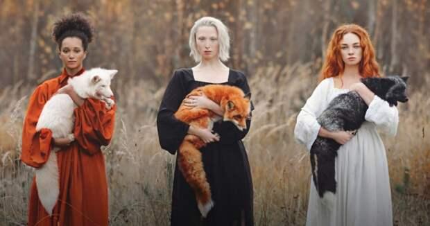 Магические фотосессии с животными Анастасии Добровольской