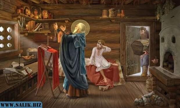 Крестьяне пытались с помощью икон остановить падёж скота. Для этого вокруг деревни носили образ святого Власия, который заменил у русских Велеса.