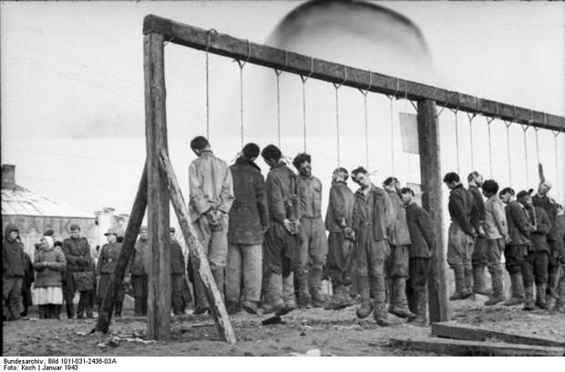 Russland, Hinrichtung von Partisanen