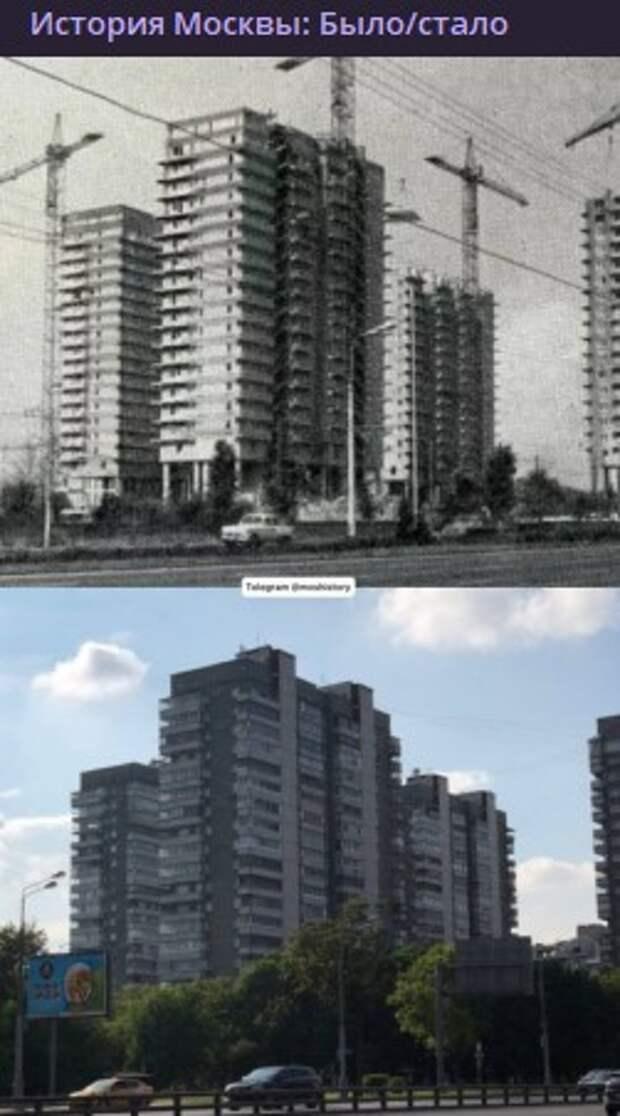 Фото дня: экспериментальный жилой комплекс на Ленинградке