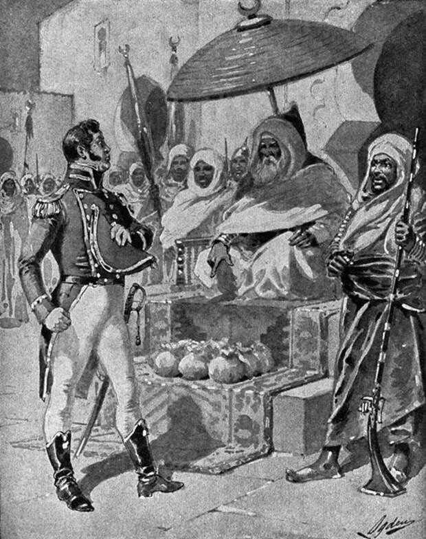 Американский капитан Уильям Бэйнбридж привез дань ливийскому паше (источник изображения - yablor.ru)