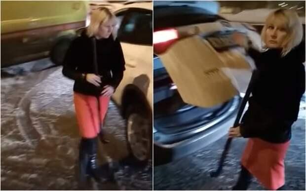 Женщина пыталась клюшкой «наказать» машину скорой